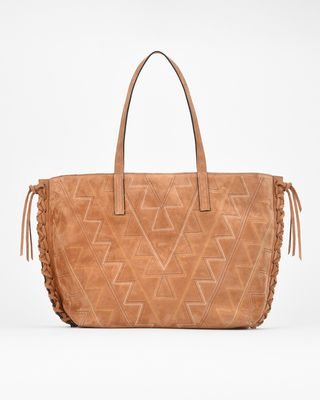 OTEHIS embroidered zipped shopper bag