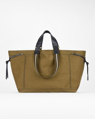 ISABEL MARANT BAG Woman WARDY large canvas shopper bag e