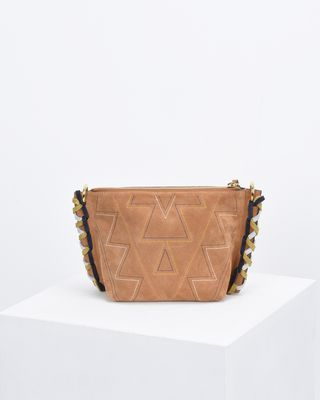 ISABEL MARANT BAG Woman FANGOH small embroidered suede bag e