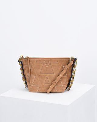FANGOH small embroidered suede bag