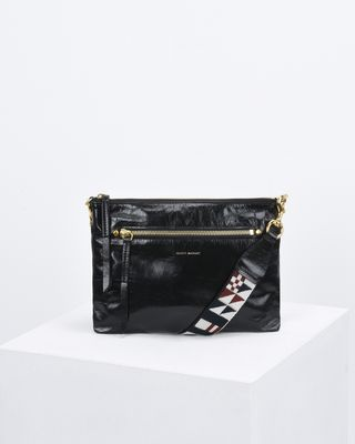 NESSAH leather clutch bag