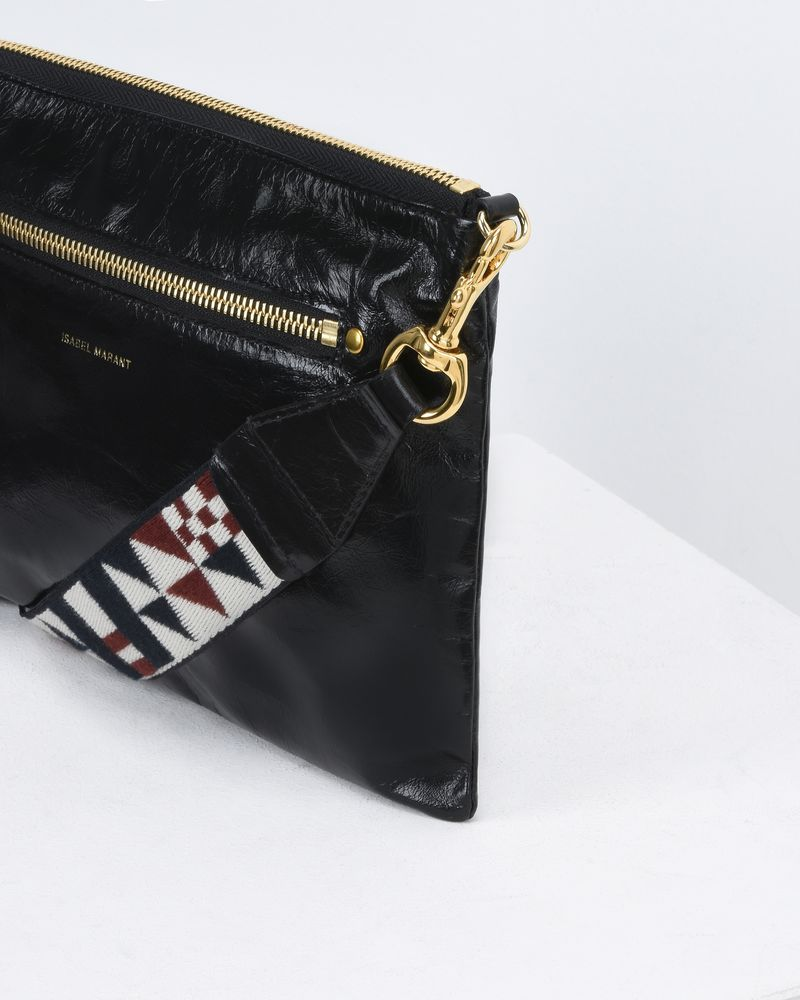 NESSAH leather clutch bag ISABEL MARANT