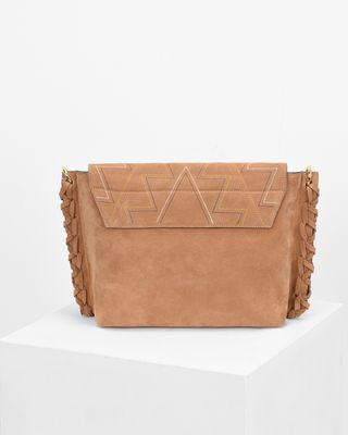 ISABEL MARANT BAG Woman ASLI embroidered suede bag e