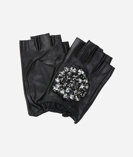 KARL LAGERFELD K/Geo Stone Fingerless Gloves 12_f