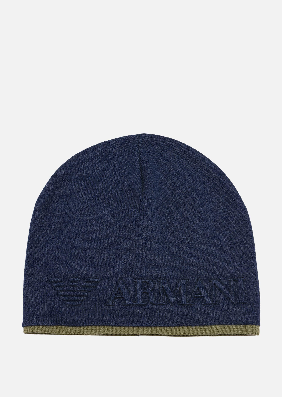 maxi logo beanie - Grey Emporio Armani IwToT