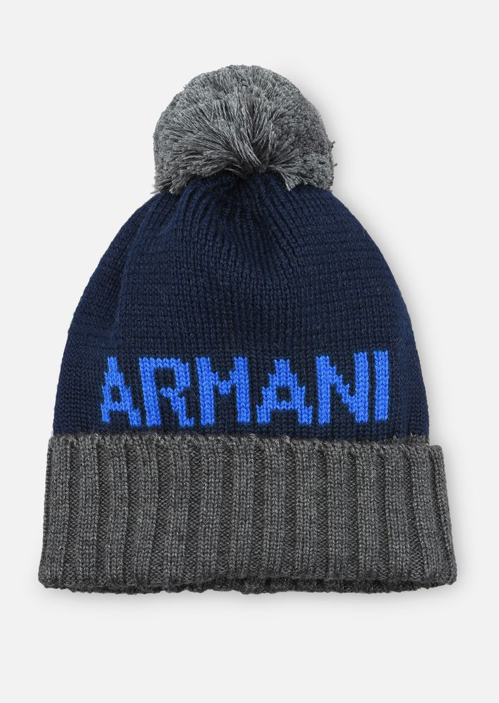 a4c1d0c8 Wool blend hat with pompom | Kid | Armani Junior