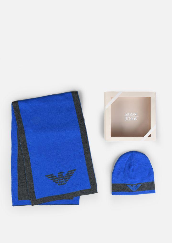 belle couleur en présentant premier coup d'oeil Ensemble écharpe et bonnet | Enfant | Armani Junior