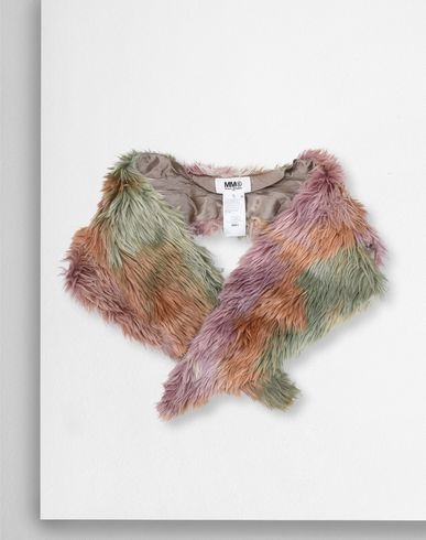MM6 MAISON MARGIELA Scarf D Multicolour faux fur scarf  f