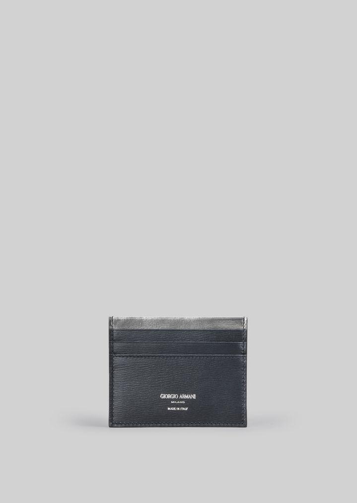 5592bcbbf7 LEATHER CREDIT CARD HOLDER | Man | Giorgio Armani