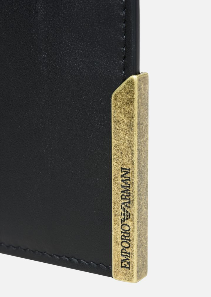 SMOOTH LEATHER CARD HOLDER | Man | Emporio Armani