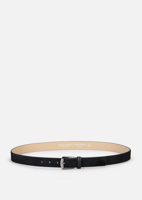 PONY SKIN BELT WITH LOGO LOOP