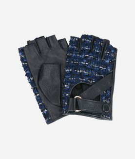 KARL LAGERFELD K/TWEED FINGERLESS GLOVES