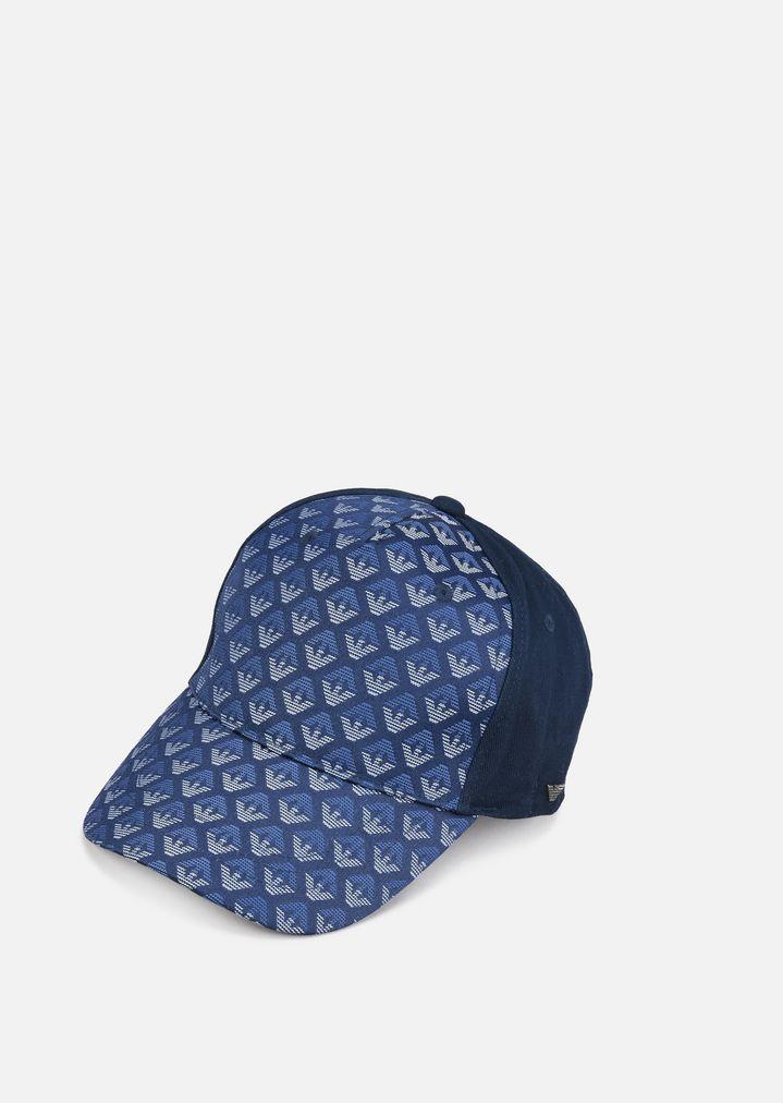 Casquette de baseball en coton mélangé   Enfant   Armani Junior f90b057d1e0