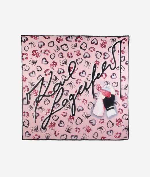 KARL LAGERFELD K/Signature foulard graffiti  12_f