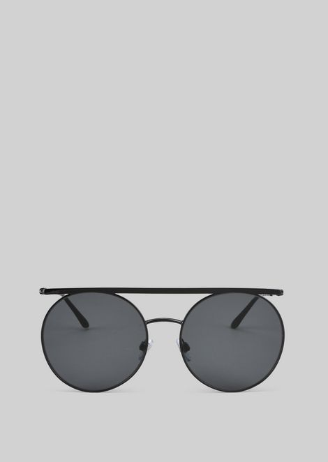Metal sunglasses with round lenses