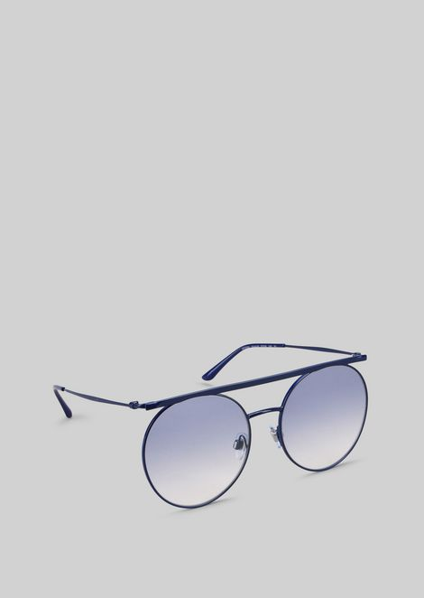 Metal sunglasses with graduated lenses