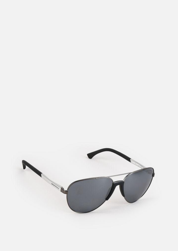 Gafas de sol aviador metálicas | Hombre | Emporio Armani