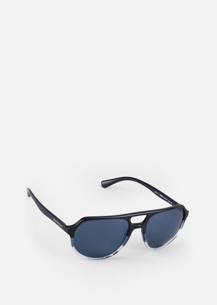 Flieger-Sonnenbrille aus zweifarbigem Acetat | Herren | Emporio Armani