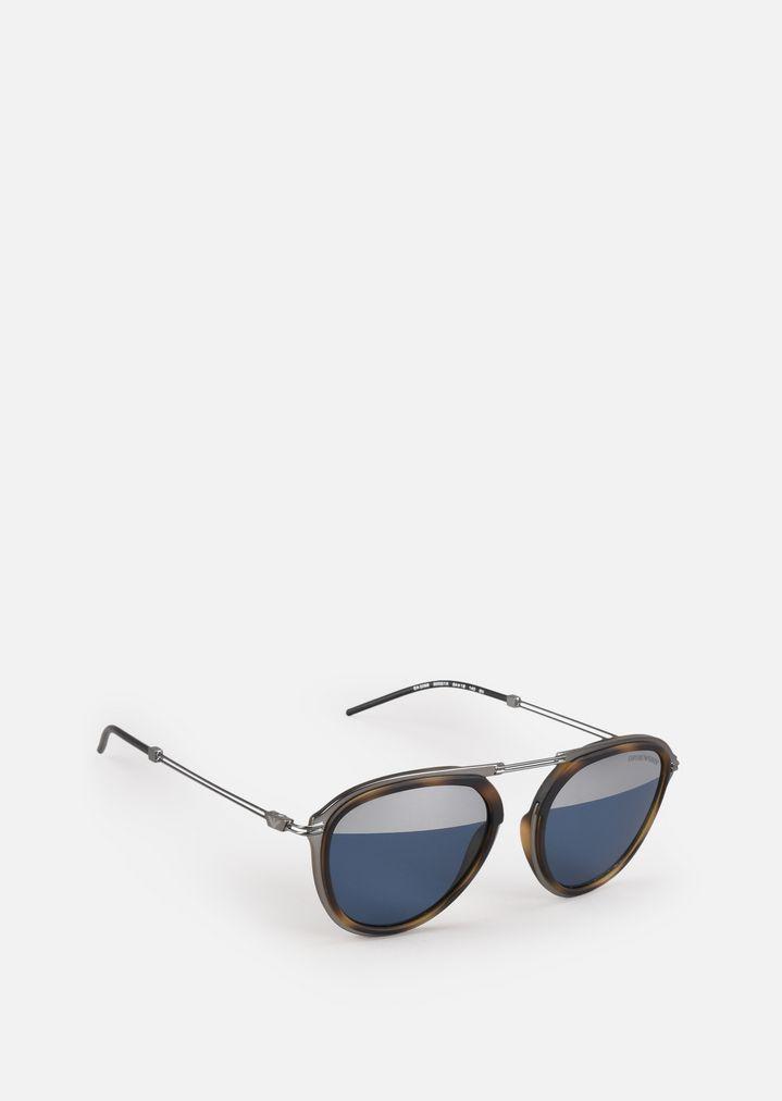 c5c6315218f3 Солнцезащитные очки из металла с цветными линзами   Мужской   Emporio Armani
