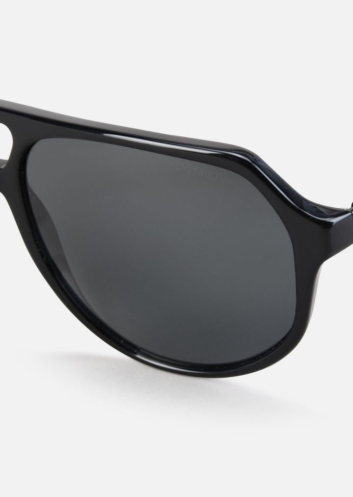 Gafas de sol aviador de acetato bicolor | Hombre | Emporio Armani
