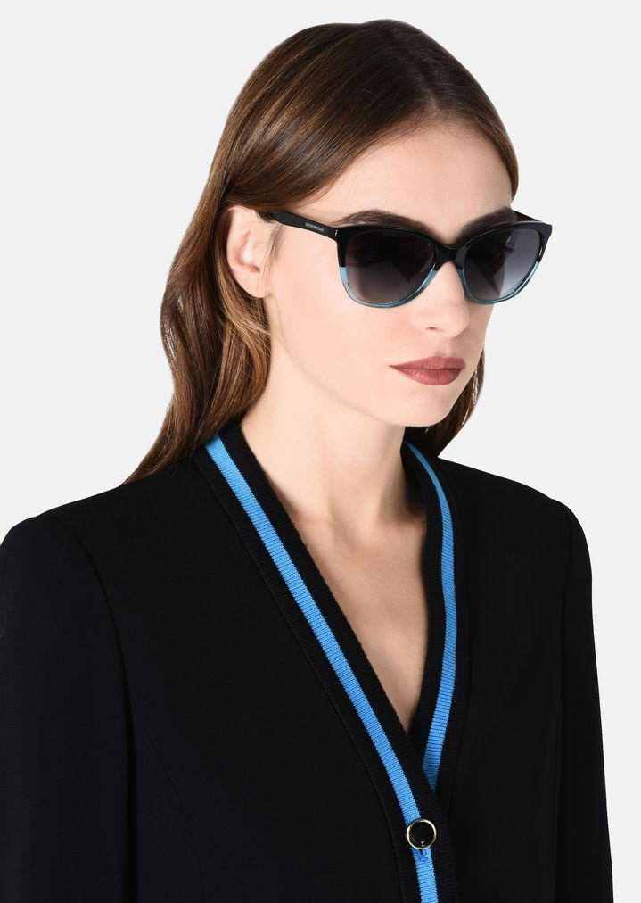 5764ad2b8140 Home · Emporio Armani  Cat-eye sunglasses in acetate. REGULAR FIT