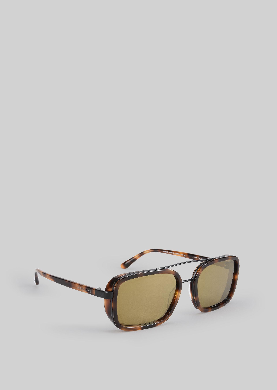 GIORGIO ARMANI Catwalk Sonnenbrille mit faltbaren Bügeln Sonnenbrille U f