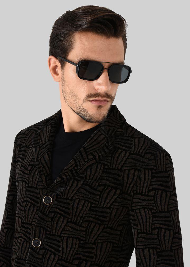 GIORGIO ARMANI Catwalk Sonnenbrille mit faltbaren Bügeln Sonnenbrille Herren a