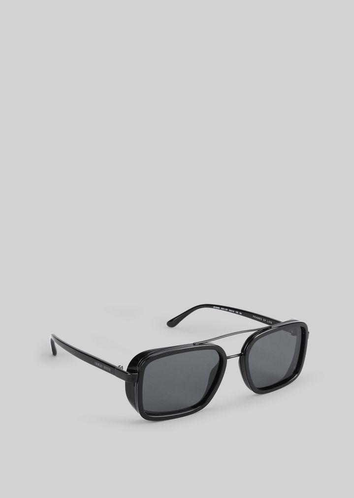 e647f74c74d7 Catwalk sunglasses with foldable temples | Man | Giorgio Armani
