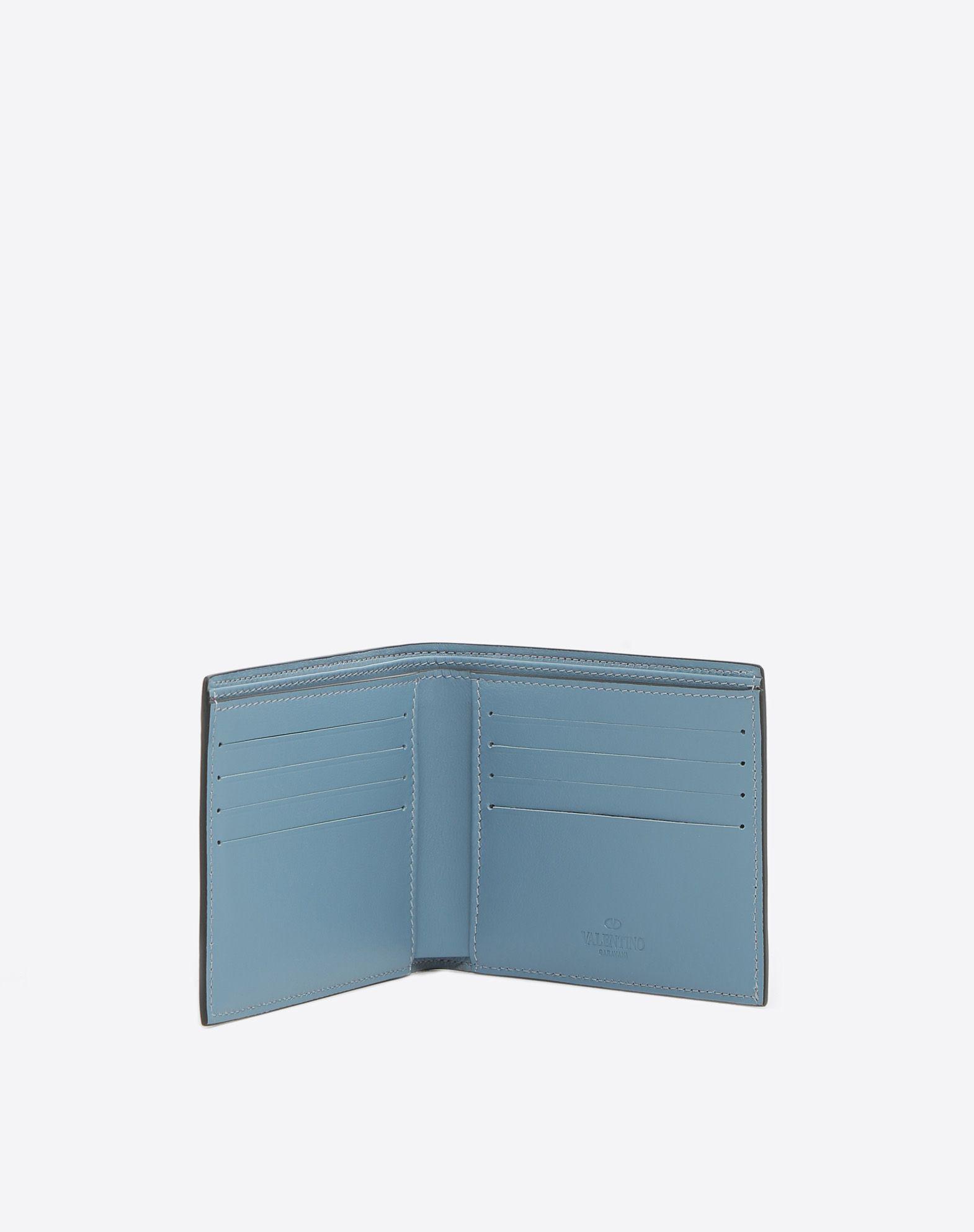 VALENTINO GARAVANI UOMO Rockstud Billfold Wallet COMPACT WALLETS U a