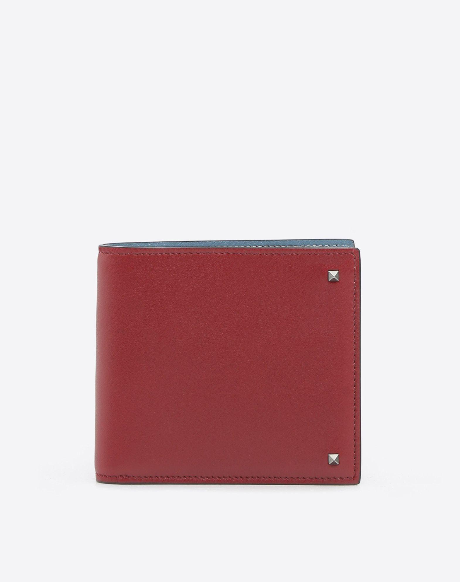 VALENTINO GARAVANI UOMO Rockstud Billfold Wallet COMPACT WALLETS U f