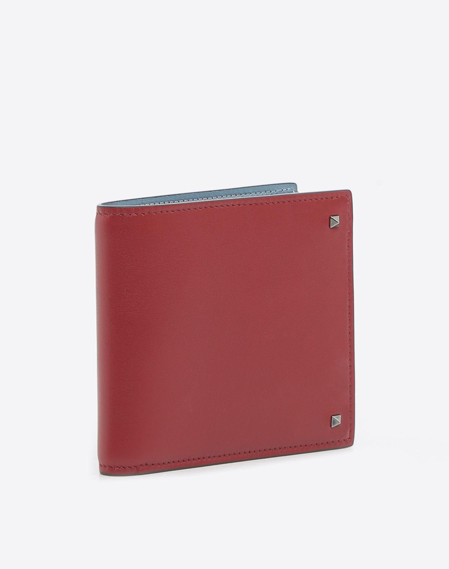 VALENTINO GARAVANI UOMO Rockstud Billfold Wallet COMPACT WALLETS U r