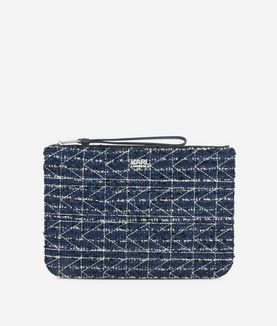 KARL LAGERFELD K/KUILTED TWEED POUCH