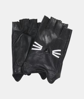 KARL LAGERFELD K/PARIS GLITTER GLOVES