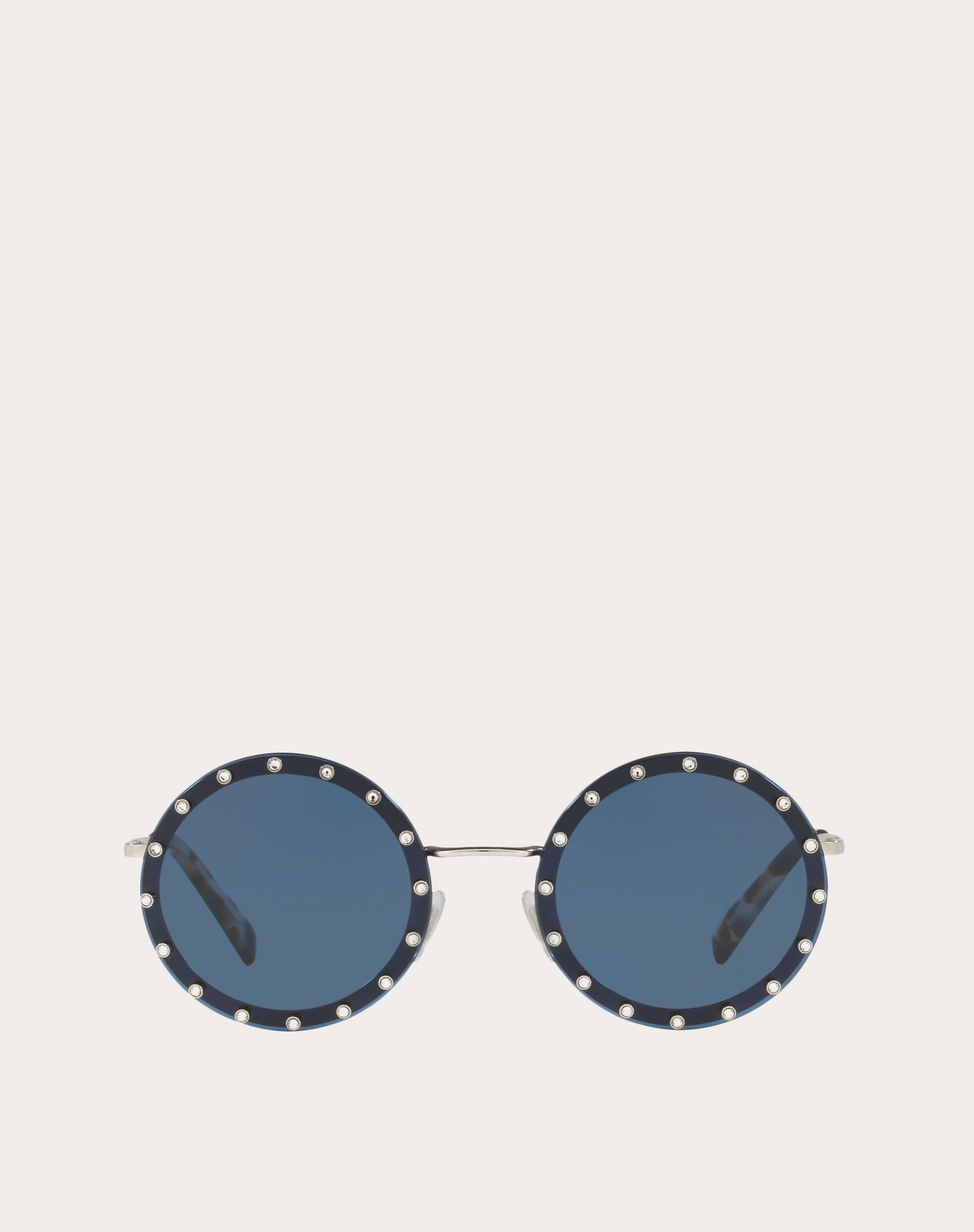 VALENTINO Logo Etchings Solid color Metallic/plastic frame Round lenses  46541589be
