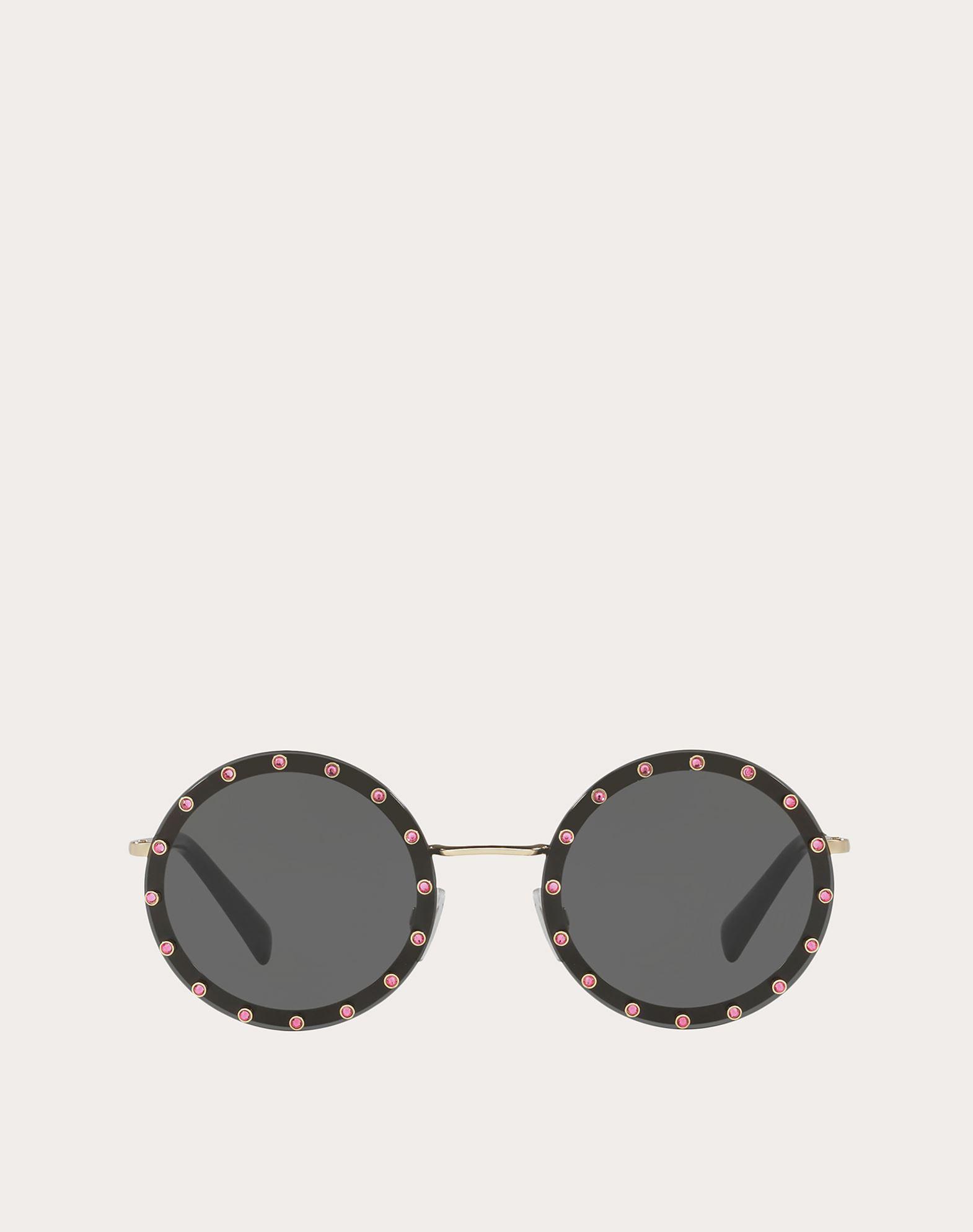 VALENTINO Logo Solid color Metallic/plastic frame Round lenses  46541590pu