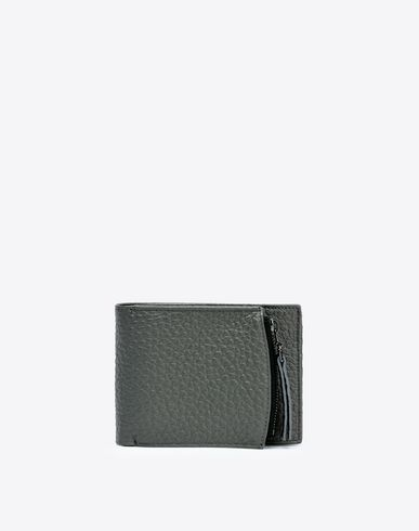 MAISON MARGIELA Wallet U Grained calfskin wallet with coin pouch f