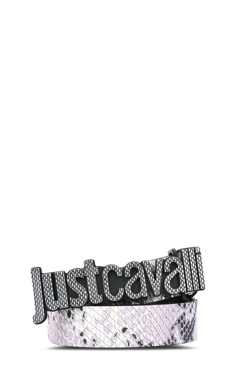 JUST CAVALLI Belt with buckle and logo Belt Woman f