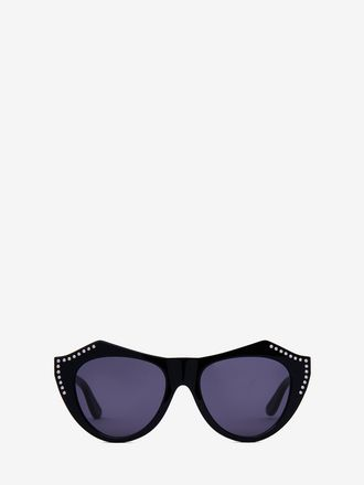 Faceted Cat-Eye Sunglasses