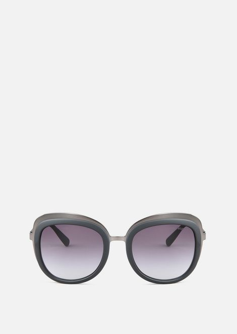 Opaque Finish Sunglasses With Graduated Lenses