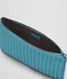 BOTTEGA VENETA AQUA INTRECCIATO NAPPA MEDIUM POUCH Other Leather Accessory E ap