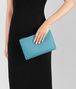 BOTTEGA VENETA AQUA INTRECCIATO NAPPA MEDIUM POUCH Other Leather Accessory E lp
