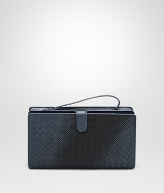 DENIM INTRECCIATO NAPPA MULTI-FUNCTIONAL CASE