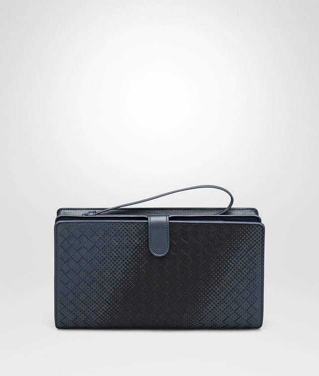 BOTTEGA VENETA DENIM INTRECCIATO NAPPA MULTI-FUNCTIONAL CASE Other Leather Accessory Man fp