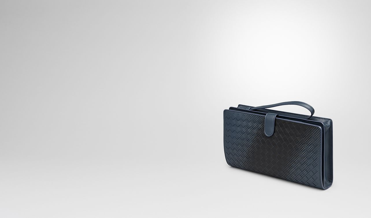 denim intrecciato nappa multi-functional case landing