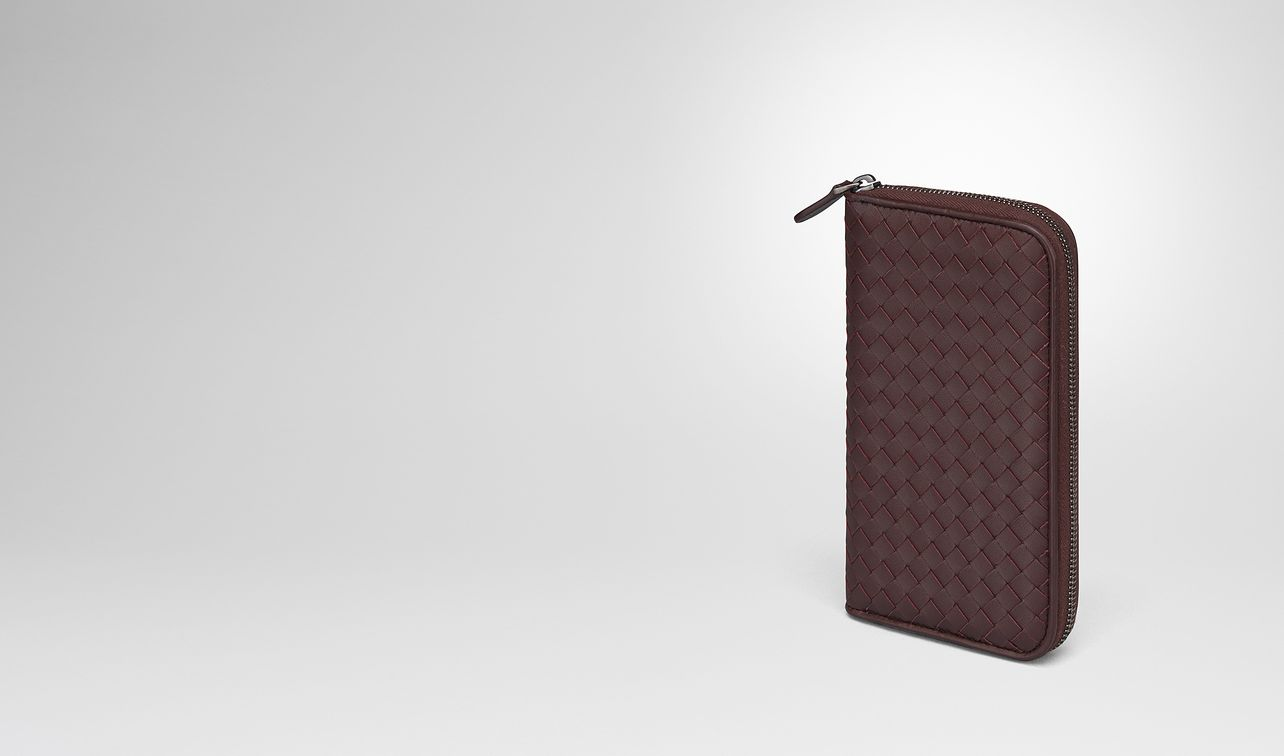 dark barolo intrecciato nappa zip-around wallet landing