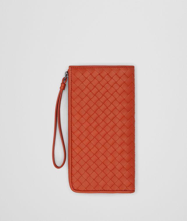 BOTTEGA VENETA TERRACOTTA INTRECCIATO NAPPA ZIP-AROUND WALLET Zip Around Wallet Woman fp