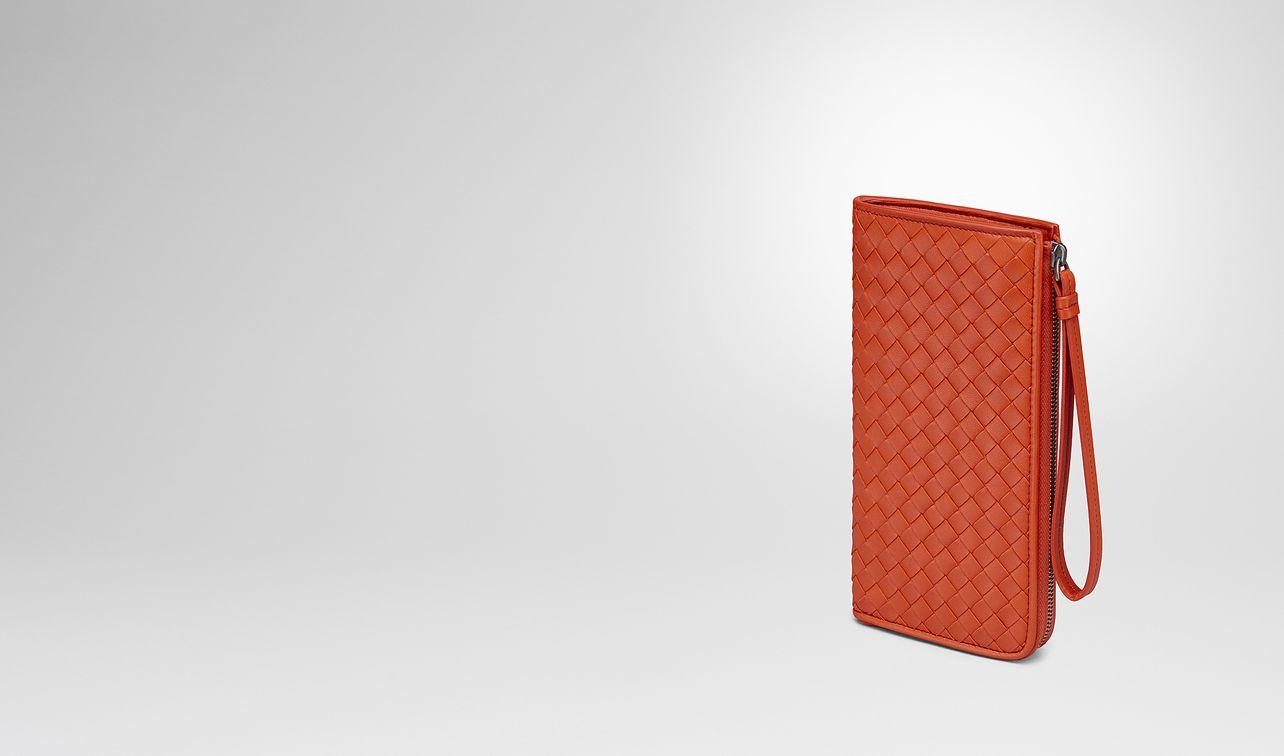 terracotta intrecciato nappa zip-around wallet landing