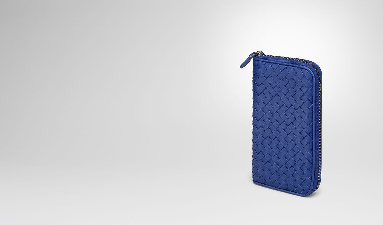 cobalt intrecciato nappa zip-around wallet landing