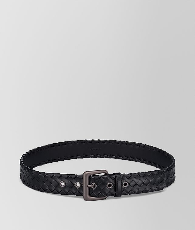 BOTTEGA VENETA NERO INTRECCIATO CALF BELT  Belt Man fp
