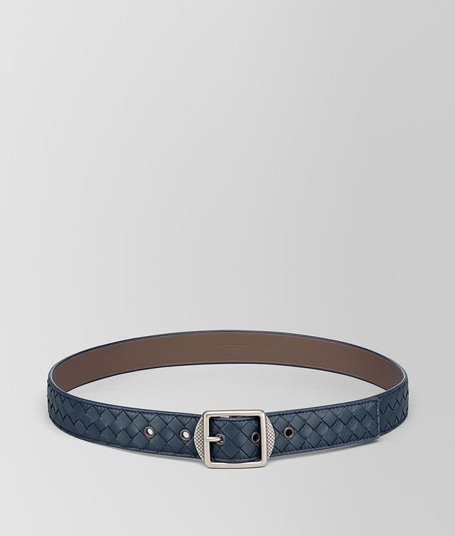 BOTTEGA VENETA DENIM INTRECCIATO NAPPA BELT Belt Man fp